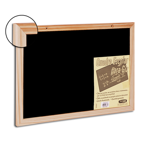 Quadro negro Blackboard com moldura de madeira