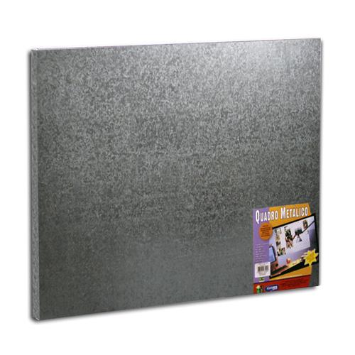 Quadro metálico prata