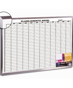 Quadro planejamento anual moldura alumínio
