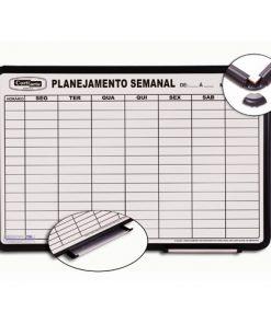 Quadro planejamento semanal magnetico moldura PVC