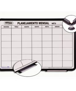Quadro planejamento mensal moldura pvc