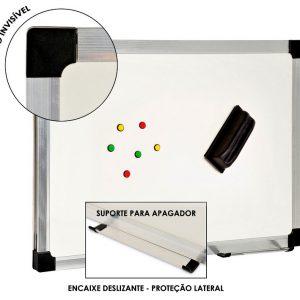 Quadro Branco Magnético PLUS STEEL - Moldura Alumínio