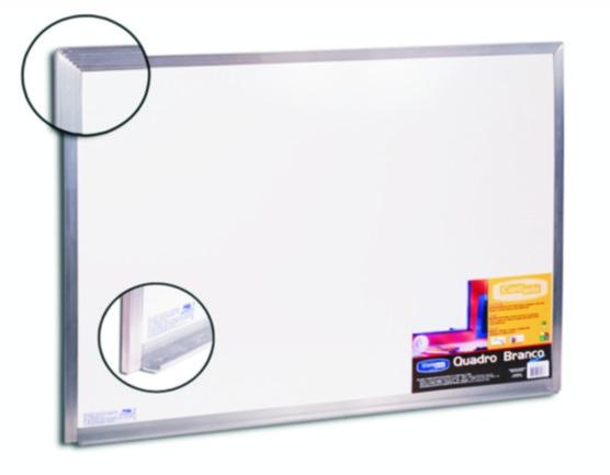 Quadro branco com moldura de alumínio - Standart